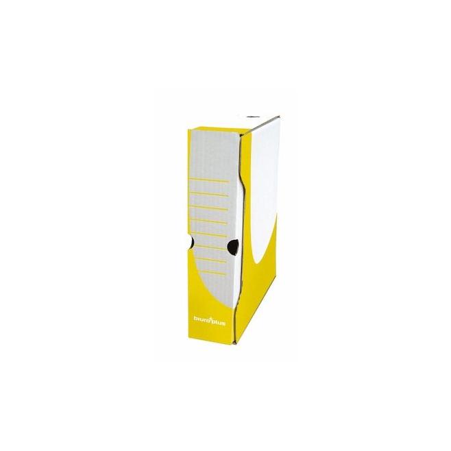 Pudło archiwizacyjne Biuro Plus 80mm - żółte