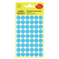 Kółka do zaznaczania Avery Zweckform - Ø 12 mm - niebieskie