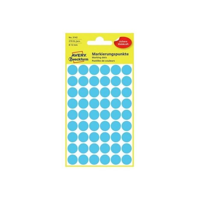 Kółka do zaznaczania Ø 12 mm - niebieskie