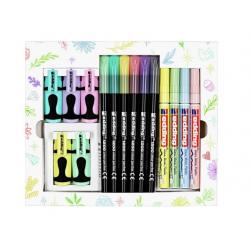 Pisaki Edding w pastelowych kolorach - zestaw 15 sztuk