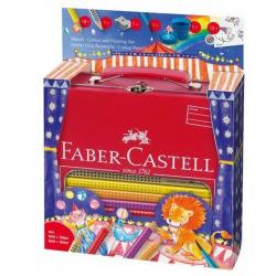 Kredki ołówkowe Faber Castell Jumbo Grip Circus - 18 kolorów + akcesoria