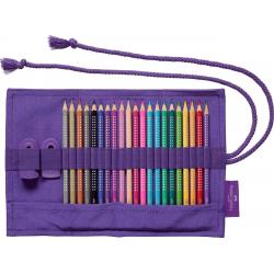 Kredki ołówkowe Faber-Castell Sparkle - 20 kolorów w piórniku rolowanym