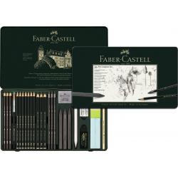 Zestaw ołówków i grafitów Faber-Castell Pitt Graphite - 26 elementów