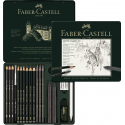 Zestaw ołówków i grafitów Pitt Graphite Faber-Castell - 19 elementów