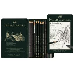 Zestaw ołówków i grafitów Faber-Castell Pitt Graphite - 11 elementów