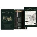 Zestaw ołówków i grafitów Pitt Graphite Faber-Castell  - 11 elementów