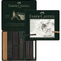 Zestaw ołówków i grafitów Pitt Charcoal Faber-Castell - 24 elementy