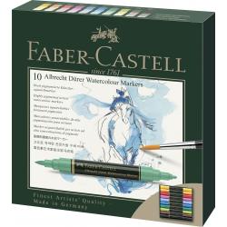 Pisaki akwarelowe dwustronne Faber Castell Albrecht Dürer - 10 kolorów