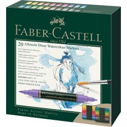 Pisaki akwarelowe dwustronne Faber Castell Albrecht Dürer - 20 kolorów