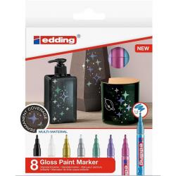 Markery olejowe Edding 751 - metaliczne - zestaw 8 szt