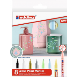 Markery olejowe Edding 751 - pastelowe - zestaw 8 szt