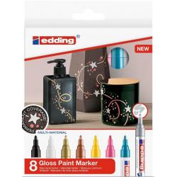 Markery olejowe Edding 750 - kolorowe - zestaw 8 szt