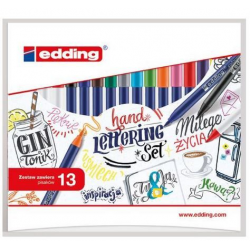 Pisaki kreatywne Edding - Hand Lettering - zestaw 13 szt