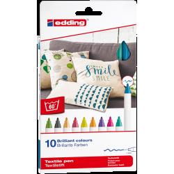 Pisaki Edding do tkanin Fun - 10 kolorów