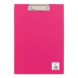 Deska z klipsem A4 - Biurfol - różowa