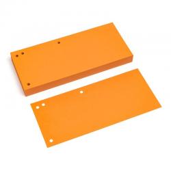 Przekładki kartonowe Donau 1/3 A4 - pomarańczowe