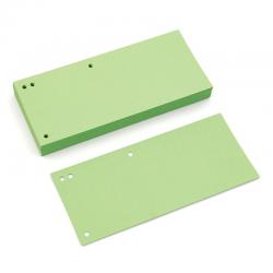 Przekładki kartonowe Donau 1/3 A4 - pastelowe zielone