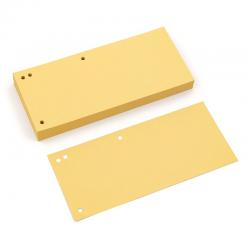 Przekładki kartonowe Donau 1/3 A4 - pastelowe żółte