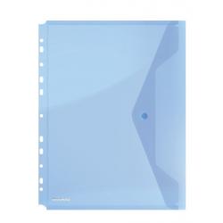 Teczka kopertowa A4 Donau PP na zatrzask 200'' - niebieska
