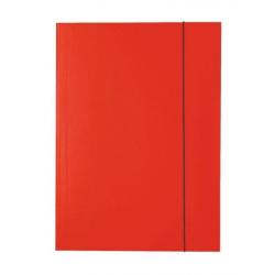 Teczka kartonowa z gumką A4 - czerwona