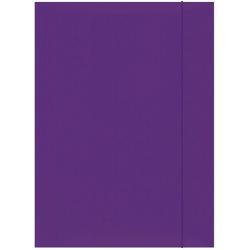 Teczka kartonowa z gumką A4 - fioletowa