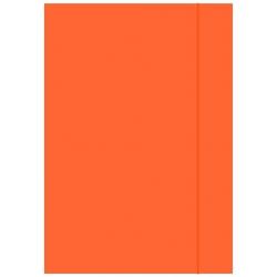 Teczka z gumką A4 - pomarańczowa