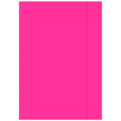 Teczka kartonowa z gumką A4 - różowa