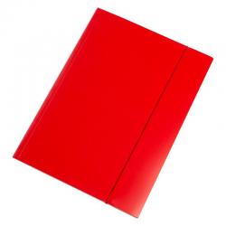Teczka z gumką Interdruk A4+ - czerwona