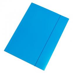 Teczka z gumką Interdruk A4+ - niebieska