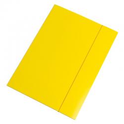Teczka z gumką Interdruk A4+ - żółta