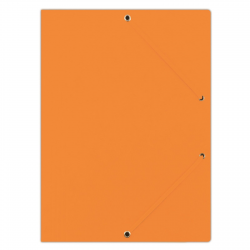Teczka z gumką Donau A4 preszpanowa - pomarańczowa