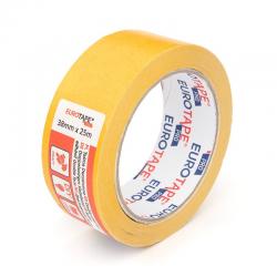 Taśma klejąca 38mm x 25m EuroTape - żółta