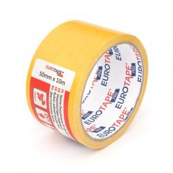 Taśma klejąca 50mm x 10m EuroTape - żółta