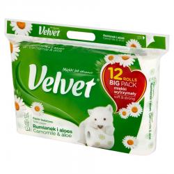 Papier toaletowy Velvet - biały rumianek / 12 rolek