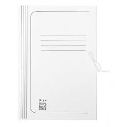 Teczka wiązana Bigo - A4 - 275g - 35mm - biała