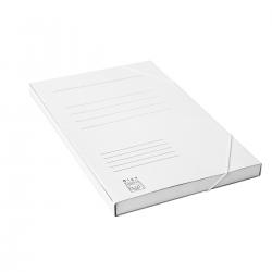 Teczka z gumką Bigo BOX - A4 - 400g - 20mm - biała