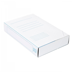 Teczka z gumką Bigo BOX - A4 - 400g - 60mm - biała