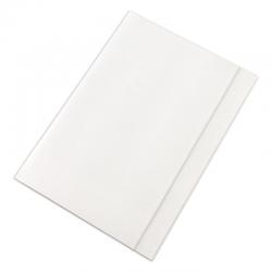 Teczka z gumką Lux Barbara - A4 - 250g - biała
