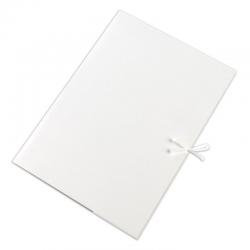 Teczka wiązana Lux Barbara - A4 - 250g - biała