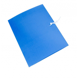 Teczka wiązana Emerson - A4 - 300g - niebieska