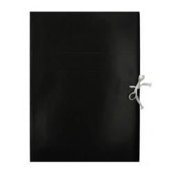 Teczka wiązana Emerson - A4 - 300g - czarna