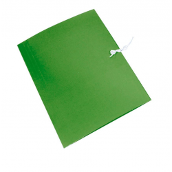 Teczka wiązana Emerson - A4 - 300g - zielona