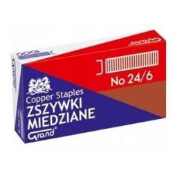 Zszywki Grand Nr 24/6 - 1000szt. - miedziane