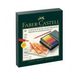 Kredki ołówkowe Faber-Castell Polychromos - 36 kolorów/ studio box