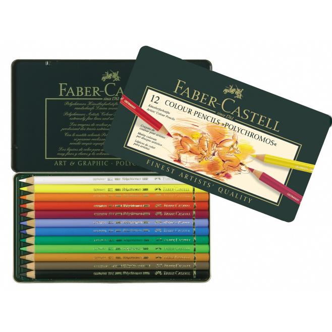Kredki Faber-Castell POLYCHROMOS - 12 kolorów