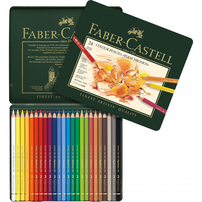 Kredki Faber-Castell POLYCHROMOS - 24 kolory