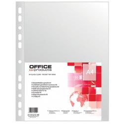 Obwoluta z folii A4 Office Products - groszkowa 40'' - 100szt.