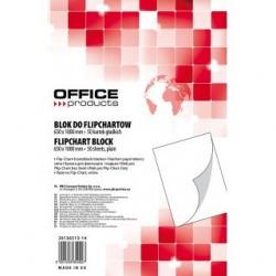 Blok gładki do tablic Flipchart Office Products- 65x100cm, 50k