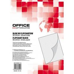 Blok w kratkę do tablic Flipchart Office Products- 58,5x81cm, 20k