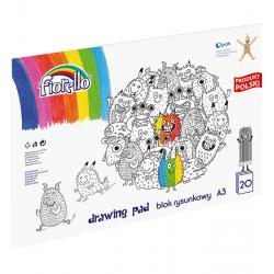 Blok rysunkowy Herlitz A3 - kolorowy - 20 kartek